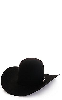 American Hat Company Men's 40X Black Open Crown Felt Cowboy Hat