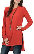 Anne French Women's Spice Long Sleeve Casual Knit Shirt