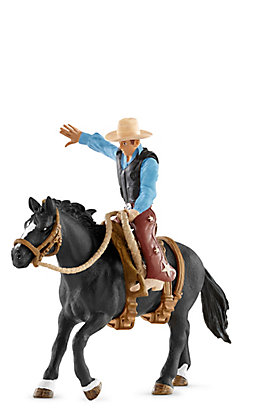 Scleich Saddle Bronc Riding with Cowboy