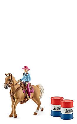 Schleich Cowgirl Barrel Racer Set