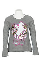 Cowgirl Hardware Girls' Grey Ain't No Barbie L/S T-Shirt