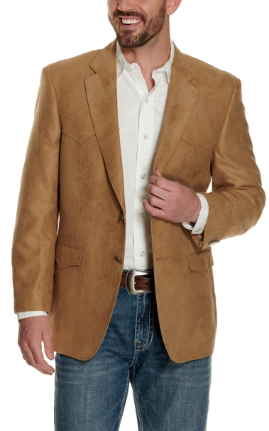 Cheap Harmony Western Wear Camel Microfiber Jacket- Big & Tall Sizes supplier