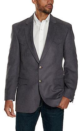 Harmony Western Wear Grey Microfiber Jacket - Big & Tall