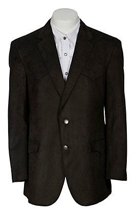 Harmony Men's Dark Brown Microsuede Sportscoat- Big & Tall Sizes