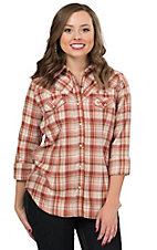 Outback Trading Company Women's August Performance Plaid Long Sleeve Western Shirt