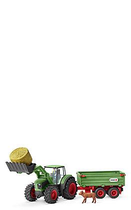 Schleich Farm World Tractor and Trailer Set