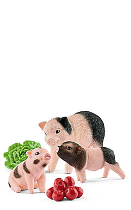 Schleich Miniature Pig Mother and Piglets Set