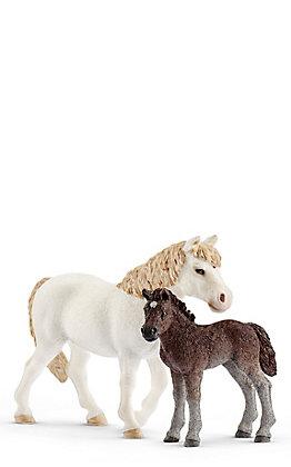 Schleich Dartmoor Pony Mare and Foal Set