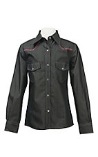 Cowgirl Hardware Girl's Denim L/S Western Shirt