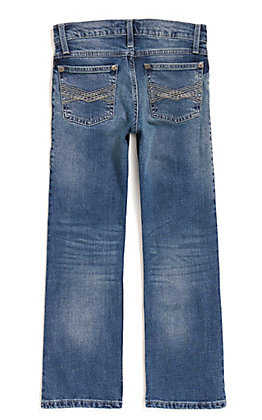 Wrangler 20X Boys' Caprock Canyon Medium Wash Slim Fit Boot Cut Jean (8-16)