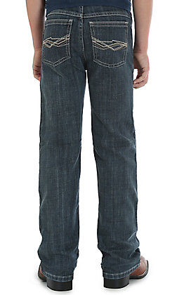 Wrangler 20X Boys' Glasgow Dark Wash Slim Fit Stretch Vintage Boot Cut Jean (8-16)