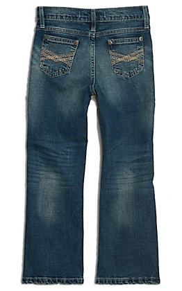 Wrangler 20X Boys' Caprock Canyon Medium Wash Slim Fit Boot Cut Jean (1T-7)
