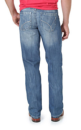 Wrangler 20X Men's No. 42 Vintage Light Blue Slim Fit Boot Cut Jean