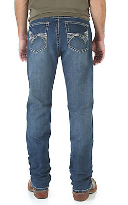 Wrangler 20X Men's No. 42 Vintage Midland Medium Wash Slim Fit Boot Cut Stretch Jean