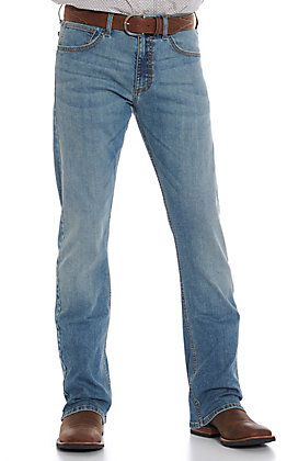 Wrangler 20X Men's Sawyer Slim Boot Light Wash Jeans