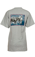 Cowboy Brand Ladies Grey The Cowgirl Way Short Sleeve Tee