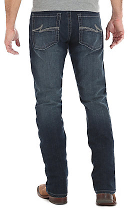 Wrangler 20X Men's Dark Wash Bedford Slim Straight Stretch Jeans