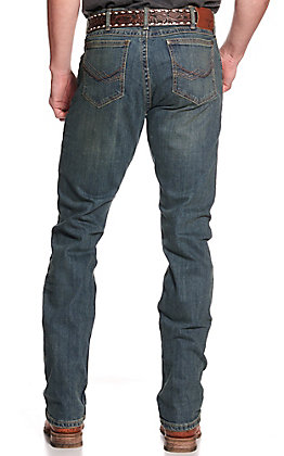 Wrangler 20X Men's Dark Wash McAllen Slim Straight Stretch Jeans