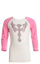 Cowgirl Hardware Girls Wing Cross Raglan T-Shirt