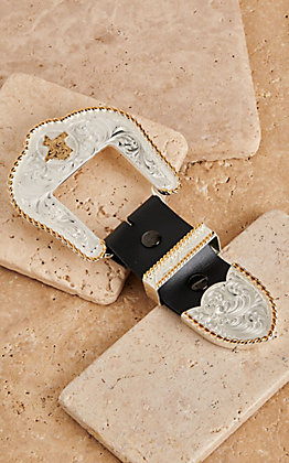 Montana Silversmiths Texas Silver Buckle Set