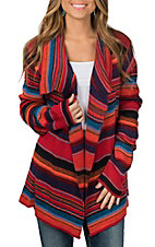 Rock & Roll Cowgirl Women's Multi-Color Knit L/S Cardigan
