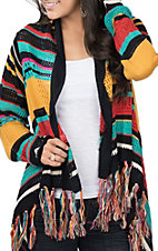 Rock and Roll Cowgirl Women's Fringed Serape Cardigan