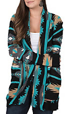Rock & Roll Cowgirl Women's Long Sleeve Knit Cardigan Sweater