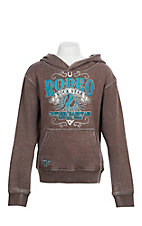 Cowgirl Hardware Girls' Brown Rodeo Rock Star Hooded Sweatshirt