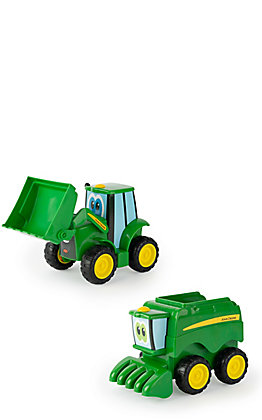 John Deere Farmin' Friends Johnny Tractor and Corey Combine Toy Set