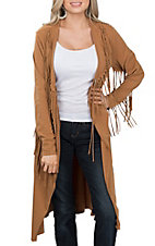 Anne French Women's Honey Fringed Cardigan