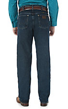 Wrangler Men's Dark Wash Advanced Comfort Cowboy Cut Regular Fit Jeans