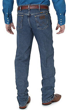 Wrangler Premium Performance Men's Mid Tint Stonewash Cowboy Cut Advanced Comfort Jeans - Big