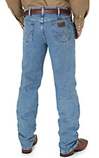 Wrangler Premium Performance Advanced Comfort Cowboy Cut Stone Bleach Stonewash Jeans- Regular Fit