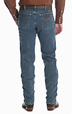 Wrangler Cowboy Cut Men's Advance Comfort Vintage Stone Regular Fit Jeans - 38 Length