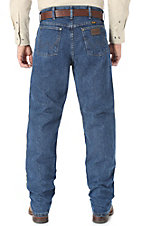 Wrangler Premium Performance Cool Vantage Cowboy Cut Dark Stonewash Jeans- Regular Fit 38in Inseam