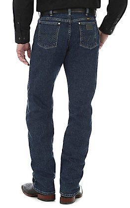 Wrangler George Strait Men's Cowboy Cut Dark Amarillo Straight Leg Comfort Stretch Jean