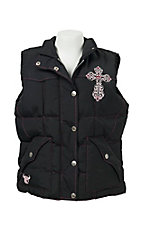 Cowgirl Hardware Black Vest