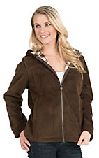 Outback Trading Company Women's Dark Chocolate Rocky Mountain Hooded Fleece Jacket