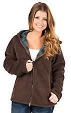 Outback Trading Company Women's Brown Rocky Mountain Hooded Fleece Jacket