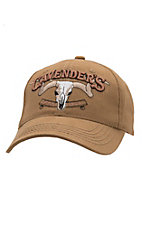 Cavender's Solid Brown Canvas with 3D Logo Cap