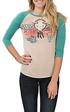 Panhandle Women's Long Sleeve Desert Graphic Tee