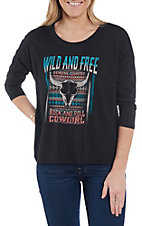 Rock & Roll Cowgirl Women's Wild & Free Dolman Sleeve Casual Knit