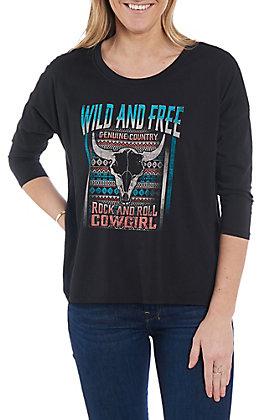 Rock & Roll Cowgirl Women's Wild & Free Dolman Sleeve Casual Knit