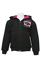 Cowgirl Hardware Girl's Black Canvas Jacket