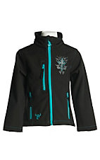 Cowgirl Hardware Girl's Black Filigree Cross L/S Jacket