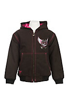 Cowgirl Hardware Brown Canvas Embroidered Wings Jacket
