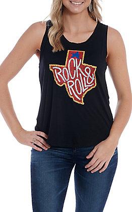 Rock & Roll Cowgirl Women's Black Rock & Roll Texas Tank