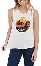Rock & Roll Cowgirl Women's Road Trippin' Graphic Tank Top