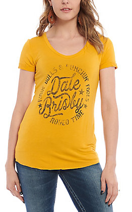 Rock & Roll Cowgirl Women's Yellow Dale Brisby T-Shirt