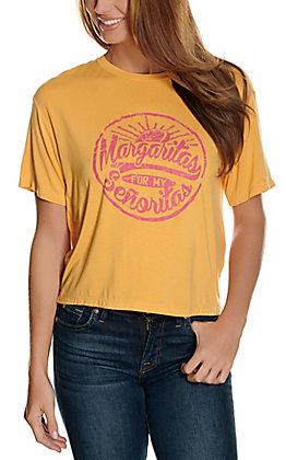 Rock & Roll Cowgirl Women's Mustard Margaritas for My Senoritas Short Sleeve Graphic Tee